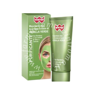 Winter Argilla Verde Purificante Maschera Viso in Crema a base di Argilla Verde 50ml